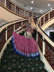 CHOLI Vintage Banjara Tribal Gypsy Choli Pink