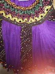 ATS®Tribal Bellydance Gypsy 25 Yard SUNSET GYPSY CARAVAN DYED Skirt