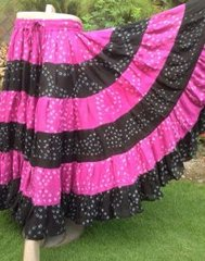 ATS®Tribal Bellydance ATS® Gypsy 25yard Double Color JAIPUR Skirt