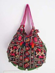 EACH UNIQUE ONE OF A KIND!!Tribal Gypsy Vintage Textile Kuchi Bag XL