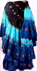 SPECIAL Listing Ruth Ellen!! Tribal Bellydance ATS® Gypsy 25yard Double Color JAIPUR Skirt