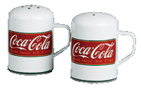 Coca Cola Kitchen Salt and Pepper Shakers