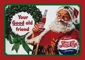 Pepsi Cola Santa Tin Sign
