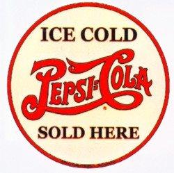 Pepsi Cola Metal Sign