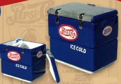 Pepsi Cola 1930's Style Cooler Twin Compartment Sugar Caddy