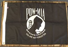POW/MIA Single Faced Polyester H&G