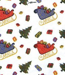 Santa Sled Christmas Tissue Paper - 10 Sheets