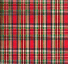 Royal Stewart Tartan Plaid Heavy Embossed Gift Wrap - 30 In x 6 Ft Sheet
