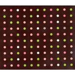Chocolate Dots Heavy Embossed Gift Wrapping - 6 Ft Sheet
