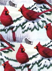 Red Cardinals Gift Wrapping - 6 Ft Sheet