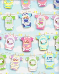 Onesies Twosies Baby Laundry Gift Wrapping -5 Ft Sheet