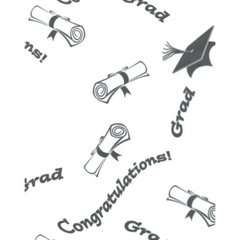 "Graduation Day Tissue Paper - Ten 20"" x 30"" Sheets"
