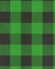 Green Lumberjack Buffalo Plaid Tissue Paper -240 Sheets