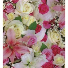 Beautiful Roses Heavy Gift Wrapping Paper - 30 Ft Roll