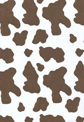 Brown Cow Hide Embossed Gift Wrapping - 6 Ft Folded Sheet