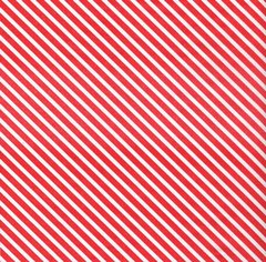 Red Candy Cane Stripe Christmas Tissue Paper - 10 Sheets