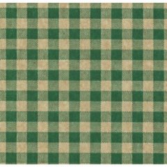 Green Gingham on Kraft Tissue Paper - Ten Sheets