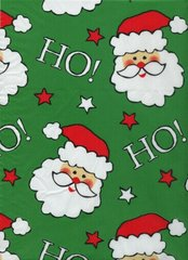 Santa Faces on Green Christmas Tissue - 250 Sheets