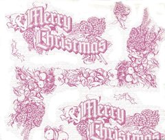 Christmas Toile Tissue Paper - 10 Sheets