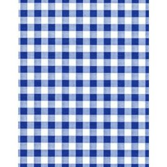 Blue Gingham on White Tissue Paper - Ten Sheets