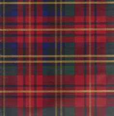 Red Plaid Tartan Heavy Embossed Extra Wide Gift Wrapping Paper - 30 In x 25 Ft Roll