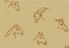 Horses on Kraft Tissue Paper - 10 Sheets