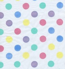 Pastel Polka Dot Tissue Paper - Ten Sheets