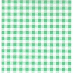 Pale Green Gingham Tissue Paper - Ten Sheets