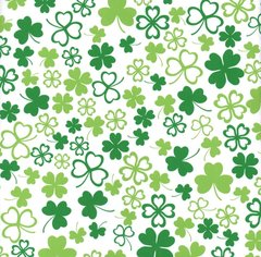 Irish Shamrock Clover Heavy Extra Wide Embossed Gift Wrapping - 25 Ft Roll