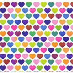 Painted Hearts Tissue Paper - 240 Sheets
