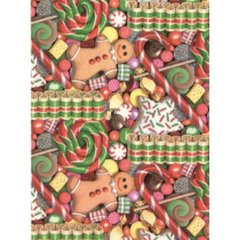 Christmas Treats Heavy Gift Wrapping Paper - 30 Ft Roll