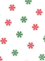 Red & Green Snowflakes Christmas Tissue Paper - 10 Sheets