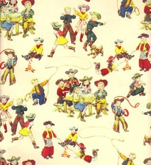 Little Buckaroos Gift Wrapping - 6 Ft Sheet