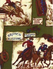 Rodeo Riders Gift Wrapping Paper - 6 Ft Sheet