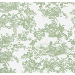 Sage Toile on White Tissue Paper - Ten Sheets