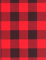 Red Lumberjack Buffalo Plaid Tissue Paper -120 Sheets
