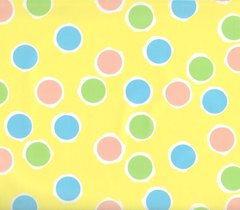 Polka Dots on Yellow Gift Wrapping Paper - 6 Ft Sheet