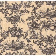 Black Toile on Kraft Tissue Paper - Ten Sheets