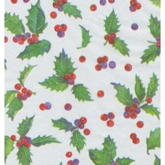 Holly Toss Christmas Tissue Paper - 10 Sheets