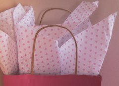 Little Pink Valentine Hearts Tissue Paper - Ten Sheets