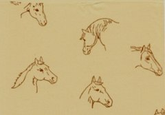 Horses on Kraft Tissue Paper - 240 Sheets