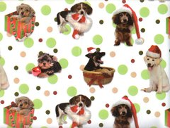 Playful Puppies Christmas Dog Gift Wrapping - Large 30 Ft Roll