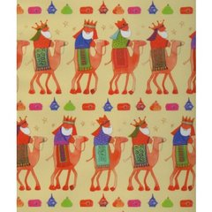 Three Kings Christmas Gift Wrapping Paper - 6 Ft Sheet