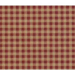 Red Gingham on Kraft Tissue Paper - Ten Sheets