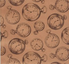Pocket Watches Heavy Gift Wrapping Paper - 5 Ft Sheet