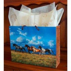 Running Free Horse Laminated Eurotote Gift Bag - 100 Small