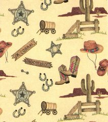 OK Corral Embossed Western Gift Wrapping Paper - 30 Ft Roll