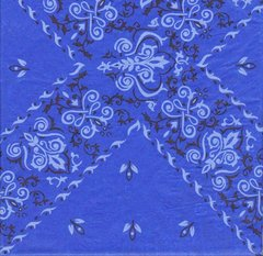 Blue Bandana Tissue Paper - 20 Folded Sheets