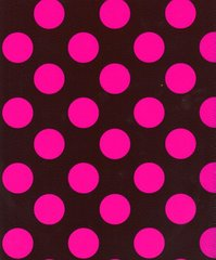 Big Pink Polka Dots on Chocolate Heavy Embossed Gift Wrapping Paper - 6 Ft Sheet