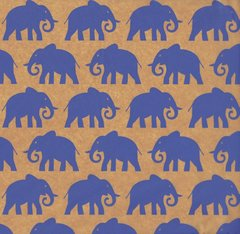 Blue Elephants Tissue Paper - Twenty Sheets